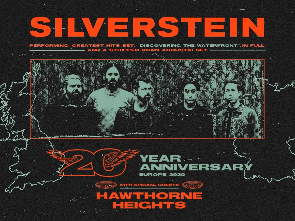 Silverstein Tour 2020 Buy tickets for Silverstein at O2 Academy Islington on 08/02/2020
