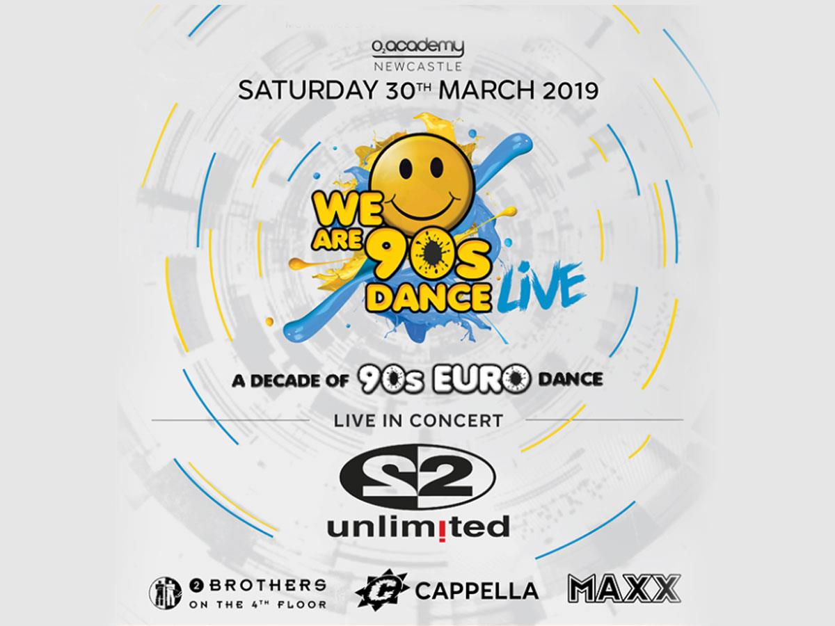 We Are 90s Dance Live - A Decade of 90s Euro Dance Tickets, Tour