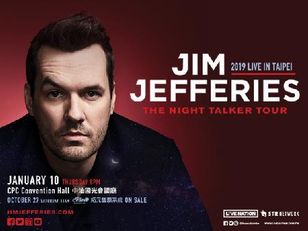 Jim Jefferies The Night Talker Tour 2019 in Taipei